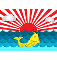 fish swimming in the sea with sunshine for summer vector image vector image