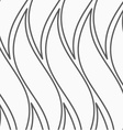 Flat gray with wavy shapes vector image vector image
