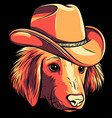 gangster dog with fedora hat vector image