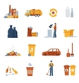 Garbage Color Icons vector image vector image