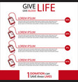 give life give blood vector image vector image
