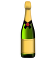 Green bottle of sparkling wine vector image