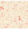 Halloween seamless pattern Pumpkin Ghosts Cats vector image vector image