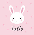 hand drawn portrait a cute funny bunny vector image