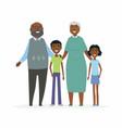 happy african grandparents - cartoon people vector image