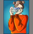 hob a photographer woman vector image vector image