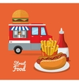 hot dog and fast food design vector image vector image