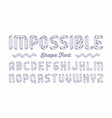impossible shape font vector image vector image