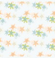 isolated seamless floral pattern with pink and vector image vector image