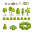 Isometric Trees Grass and City Plants Set vector image vector image