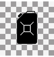 Jerrycan oil icon on a transparent vector image vector image