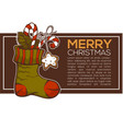 knitting socks full of christmas presents vector image vector image