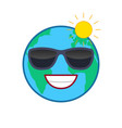 laughing world globe isolated emoticon vector image vector image