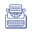 line retro typewriter equipment with business vector image vector image