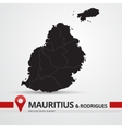 Mauritius and Rodrigues map vector image vector image