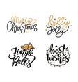 merry christmas jingle bells and best wishes holly vector image