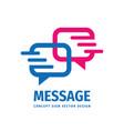 message talking - speech bubbles business vector image