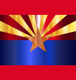 metal arizona state flag vector image