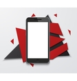 modern smartphone creative banner vector image vector image