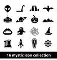 mystic icons vector image vector image