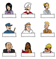 people professions signs vector image vector image