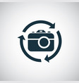photo camera arrow icon for web and ui on white vector image vector image