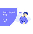 psychological help psychotherapy counseling vector image vector image