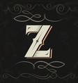 retro style western letter design letter z vector image