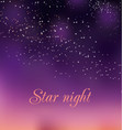romantic night gradient background vector image vector image