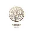 round pattern logo tree vector image