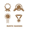 rustic badge logo icon design template vector image