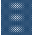 Seamless dot pattern White dots on blue vector image