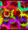 seamless texture of bright colorful gears and vector image vector image