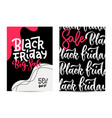 set tow vertical banners for a black friday vector image vector image