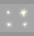 set white and yellow luminous transparent light vector image vector image
