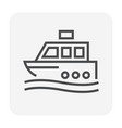 ship icon black vector image