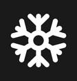 snowflake weather icon vector image vector image