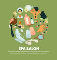 Spa salon with high quality skincare services vector image