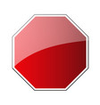 stop traffic road sign blank prohibited red vector image vector image