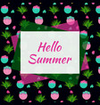 summer web banner with cactus vector image vector image
