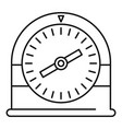 swim clock icon outline style vector image vector image