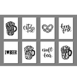 Typographic cards with hand drawn lettering vector image
