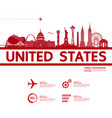 united states travel vector image