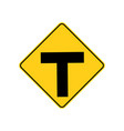usa traffic road sign intersection warning vector image vector image