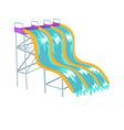 water slides aquapark equipment cartoon vector image vector image