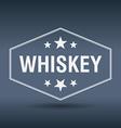 whiskey hexagonal white vintage retro style label vector image vector image