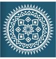 white mandala vintage blue background image vector image