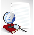 Paper Sheets and Globe vector image