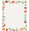 Vegetables frame vector image