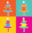 pop art christmas tree vector image